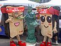 2008Taipei101RunUp Bread and Statue Mascots of Uni-President Bread.jpg