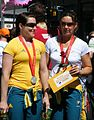 2008 Summer Olympics Australian Parade in Sydney - Anna Meares - Cycling 3.jpg