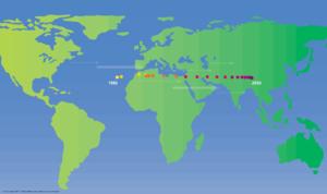 Danny Quah - The World's Economic Centre of Gravity 1980-2050. Produced by Danny Quah, 2011