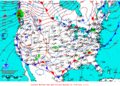 2012-01-08 Surface Weather Map NOAA.png