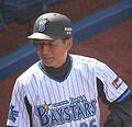 20120320 Kazuyuki Sirai,coach of the Yokohama DeNA BayStars,at Yokohama Stadium.JPG