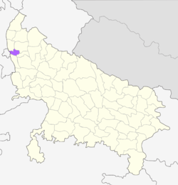 Location of Ghaziabad district in Uttar Pradesh