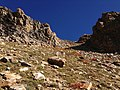 2013-09-16 09 12 16 View up the route to Thomas Peak, Nevada from Island Lake at about 10560 feet.jpg