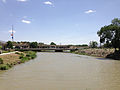 2014-06-12 14 06 31 View down the Humboldt River from Bridge Street in Winnemucca, Nevada.JPG