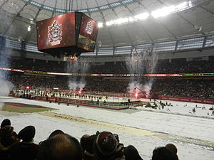 2014 Heritage Classic - Fireworks were set-off at the conclusion of the game