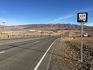 Nevada State Route 439 - View north along SR 439