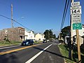 2016-09-16 16 55 00 View east along Maryland State Route 144 (Frederick Road) at Maryland State Route 94 (Woodbine Road) in Lisbon, Howard County, Maryland.jpg