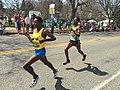 2016 Boston Marathon lead men at mile 19.jpg