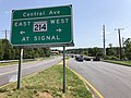 2020-08-26 15 13 44 View east along Maryland State Route 193 (Enterprise Road) just west of Maryland State Route 214 (Central Avenue) on the edge of Mitchellville and Woodmore in Prince George's County, Maryland.jpg