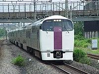 215 Zushi to Shinagawa at Shin-Kawasaki 20020713.jpg
