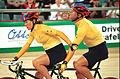 231000 - Cycling track Kerry Modra Kieran Modra action 2 - 3b - 2000 Sydney race photo.jpg