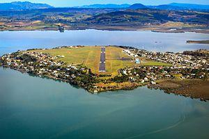 Whangarei Airport - Whangarei Airport, on the Onerahi peninsula, surrounded by Whangarei Harbour
