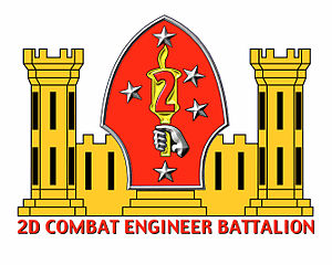 2nd Combat Engineer Battalion - 2nd CEB insignia