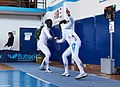 2nd Leonidas Pirgos Fencing Tournament. Double touch for Nefeli Rodopoulou and her opponent.jpg