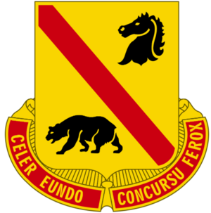 61st Cavalry Division (United States) - Image: 302nd Cavalry Regiment DUI