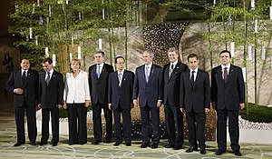 The Commission President with the eight other ...