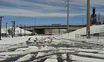 40th & Colorado Station construction, Colorado Blvd bridge.jpg
