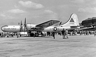 Boeing KB-29 Superfortress - KB-29P tanker of 420th Air Refueling Squadron based at RAF Sculthorpe Norfolk in 1956