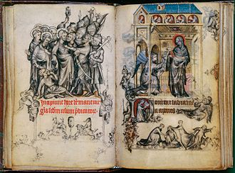 Hours of Jeanne d'Evreux - The Arrest of Christ and the Annunciation to Mary