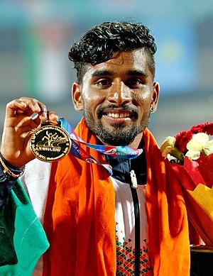 Govindan Lakshmanan - Image: 5000M Gold Medalist Laxshman, India