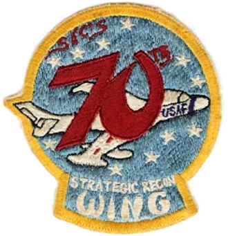 70th Intelligence, Surveillance and Reconnaissance Wing - 70th Strategic Reconnaissance Wing patch (unofficial)