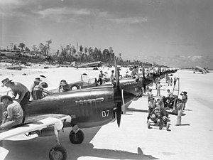 No. 80 Squadron RAAF - No. 80 Squadron Kittyhawks being prepared for ground attack missions in 1944