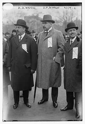Albert H. Wiggin - Wiggin and J.P. Morgan, Jr. in 1917 in Manhattan at a war bond parade