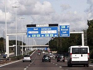 A3 motorway (Belgium) - Image: A3 Ring Stevens Woluwe