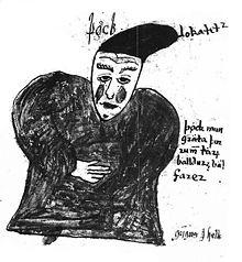 Þökk in un'illustrazione di un manoscritto islandese del XVII secolo