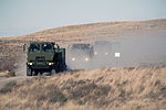 A U.S. Air Force convoy assigned to the 726th Air Control Squadron (ACS) moves across the Idaho desert, roughly 75 miles from Mountain Home Air Force Base in Idaho, Oct. 4, 2013, during Mountain Roundup 2013 131004-F-WU507-025.jpg