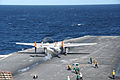 A U.S. Navy C-2 Greyhound aircraft is catapulted takes off from the aircraft carrier USS Theodore Roosevelt (CVN 71) Nov. 11, 2013, while underway in the Atlantic Ocean 131111-N-SB233-095.jpg