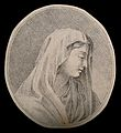 A female figure in an attitude of respectful piety. Drawing, Wellcome V0009218.jpg