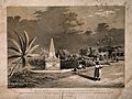 A monument positioned near the military hospital in Barbados Wellcome V0015774.jpg