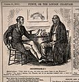 A patient being advised by a doctor not to drink beer in the Wellcome V0011398.jpg