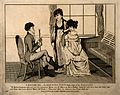 A pompous physician trying to impress the two ladies he is v Wellcome V0010944.jpg