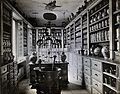 A seventeenth-century German apothecary's shop with ornate p Wellcome V0029786.jpg