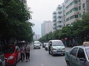 Wushan County, Chongqing - A street view of town in Wushan, Chongqing