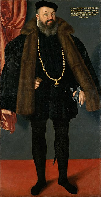 Christoph, Duke of Württemberg - Christoph of Württemberg