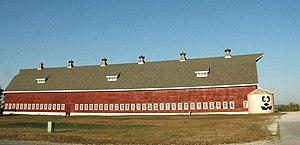 National Register of Historic Places listings in Douglas County, Nebraska - Image: Ackerhurst Dairy Barn Omaha NE