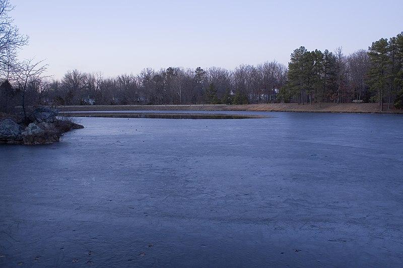 File:Across Thawing Lake Scioto, Saint James, Missouri.jpg