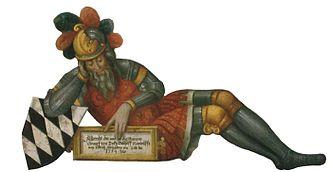Adalbert I, Duke of Teck - Image: Adalbert I von Teck Ausschnitt aus dem Stammbaumgemälde der Herzöge von Teck (um 1557)
