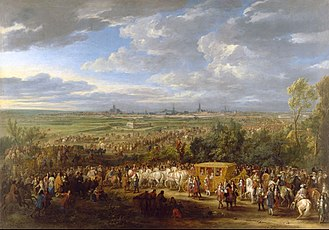 Adam Frans van der Meulen - The entry of King Louis XIV and Queen Maria-Theresa in Arras on 30 July 1667