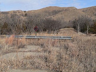National Register of Historic Places listings in Cherry County, Nebraska - Image: Adamson Bridge site from S bank 3