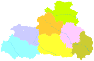 Shangluo - Image: Administrative Division Shangluo