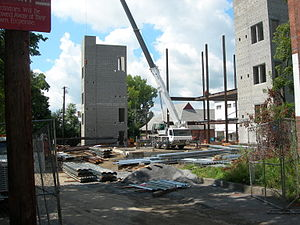 Adriance Memorial Library - Construction in progress in 2008