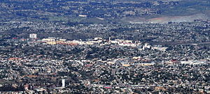 San Diego State University - Aerial view of the campus, roughly from the south