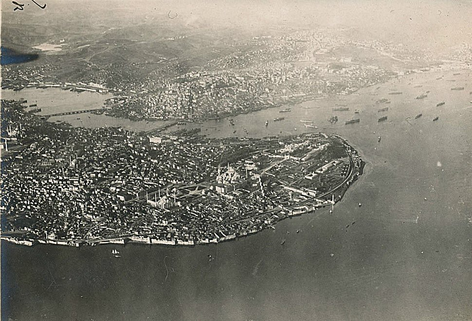Aerial view of Istanbul 19 March 1918