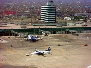 Callao - Aero Cóndor and LAN Airlines planes