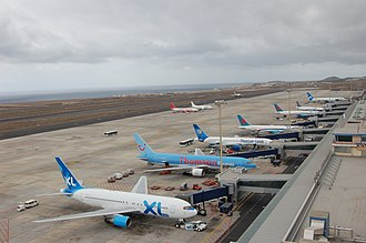 Tenerife South Airport - Apron view