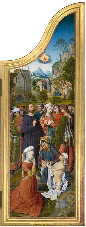 Aert van den Bossche - Triptych with the Miracles of Christ: The Raising of Lazarus
